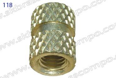 Brass Pressed In Inserts