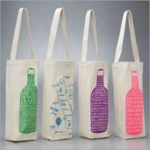 Printed Bottle Cotton Bag