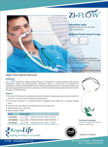 Zi-Flow Adult HFNC Nasal Cannula