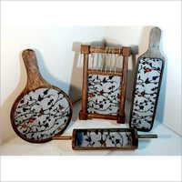 Printed Wooden Platter Set