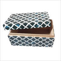 Wooden Resin Printed Jewelry Box