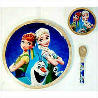 Kids Printed Plate And Bowl Set
