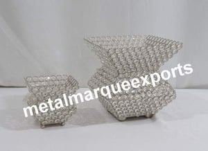 Crystal Beaded Table Top Vases