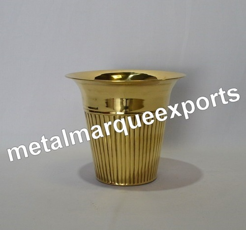 Brass Shining Polish Flower Vase