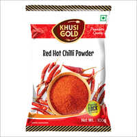 100 Gm Pouch Packing Red Chilli Powder