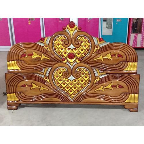 Wooden Double Bed Headboard