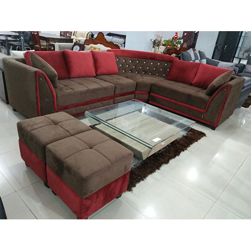 Living Room L Shaped Sofa Set