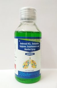Ambroxol Terbutaline Sulphate Guiphenesin Menthol Cough Syrup