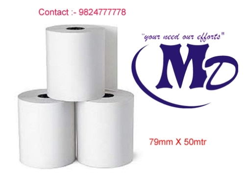 79mm X 50mtr(plain) 72GSM Thermal Paper Roll