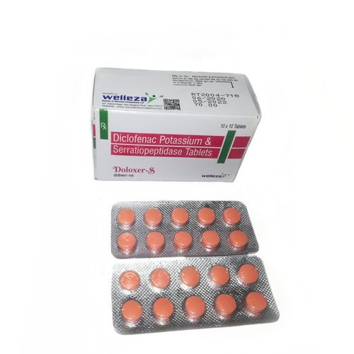 Diclofenac Potassium 50mg & Serratiopeptidase 10mg Tablets