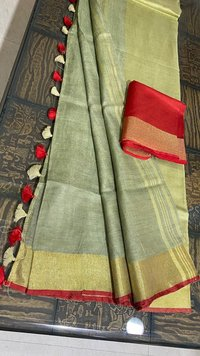 Pure Linen by Linen 120 Count Organic Saree