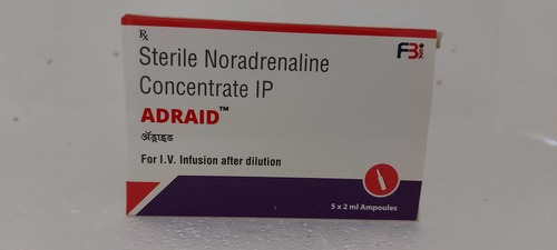 ADRAID - STERILE NORADRENALINE CONCENTRATE IPAdraid - Sterile Noradrenaline Concentrate Ip