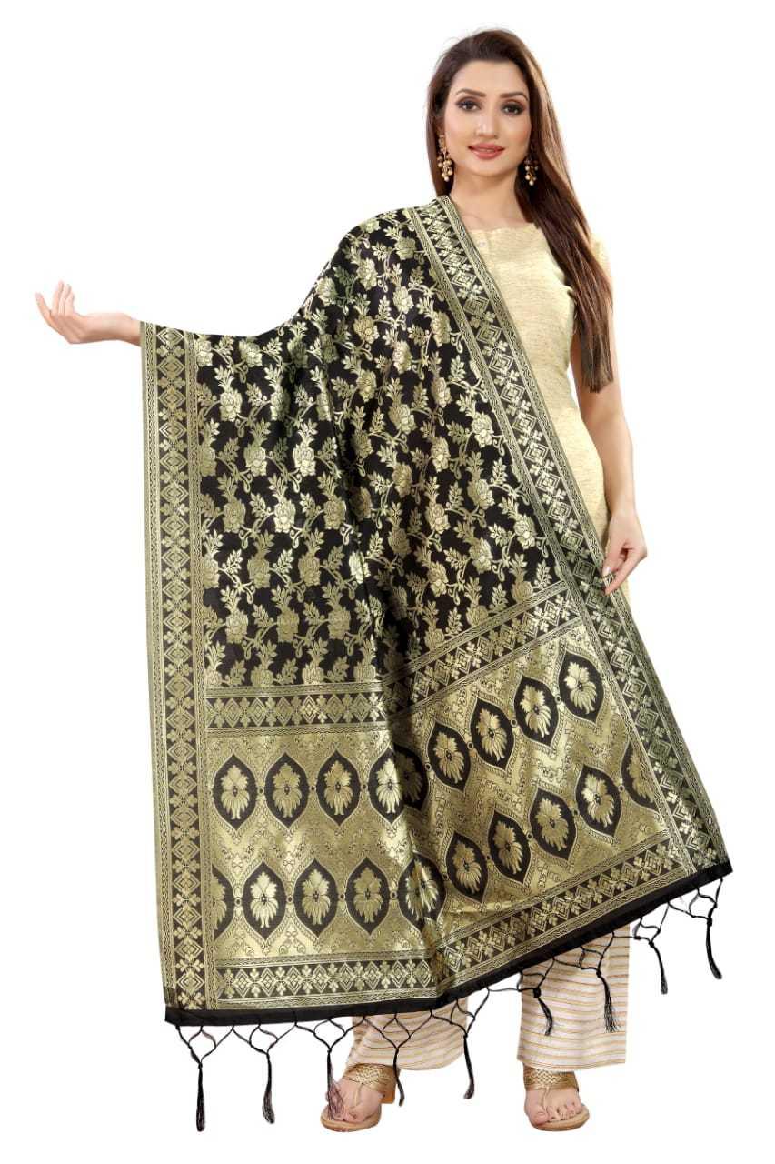 Kangana Women Banarasi Silk Dupatta
