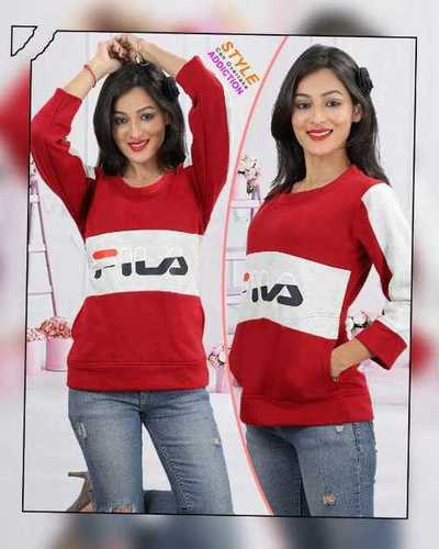 Women winter round neck fila