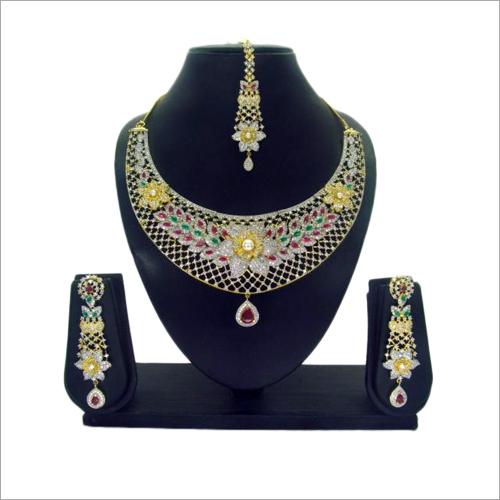 CZ Collar Necklace Set