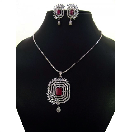 Fancy Indian CZ Pendants Set