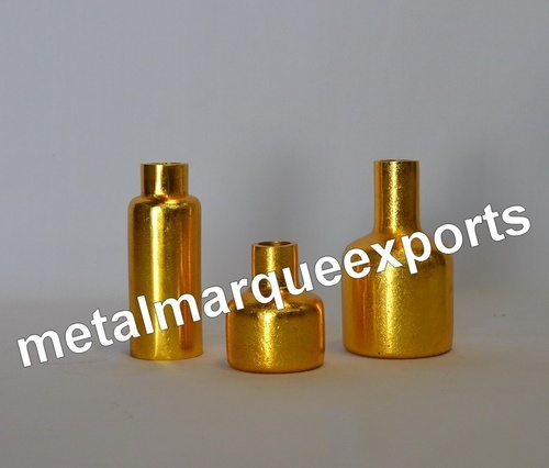 Aluminum Gold Plated Table Top Vases