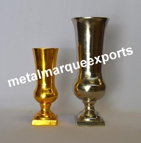 Nickel / Gold Plated big Floor Vases