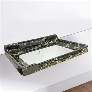 32 Inch Marble Colors Cabinet Basins