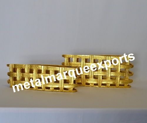 Gold Plated Fancy Table Top Flower Vases
