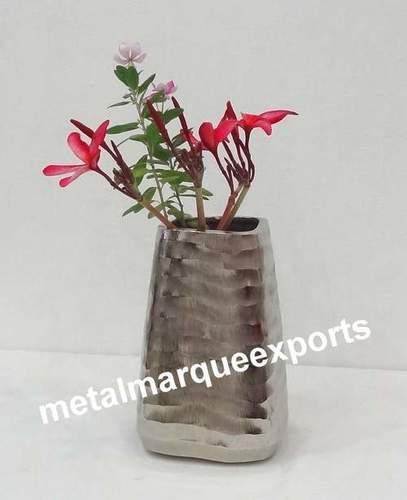 Nickel Plated fancy Flower Vase