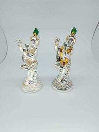 Silver Plated Krishna Statues