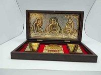 Golden Swami Samarth Religious Frame