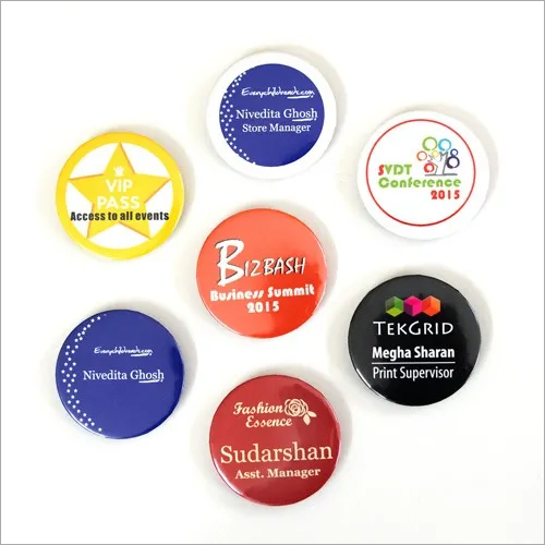 Round Printed Badge