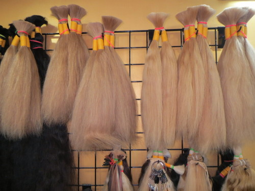 New Arrival Indian Human Hair Silk Topper Blonde 613 Density Hair