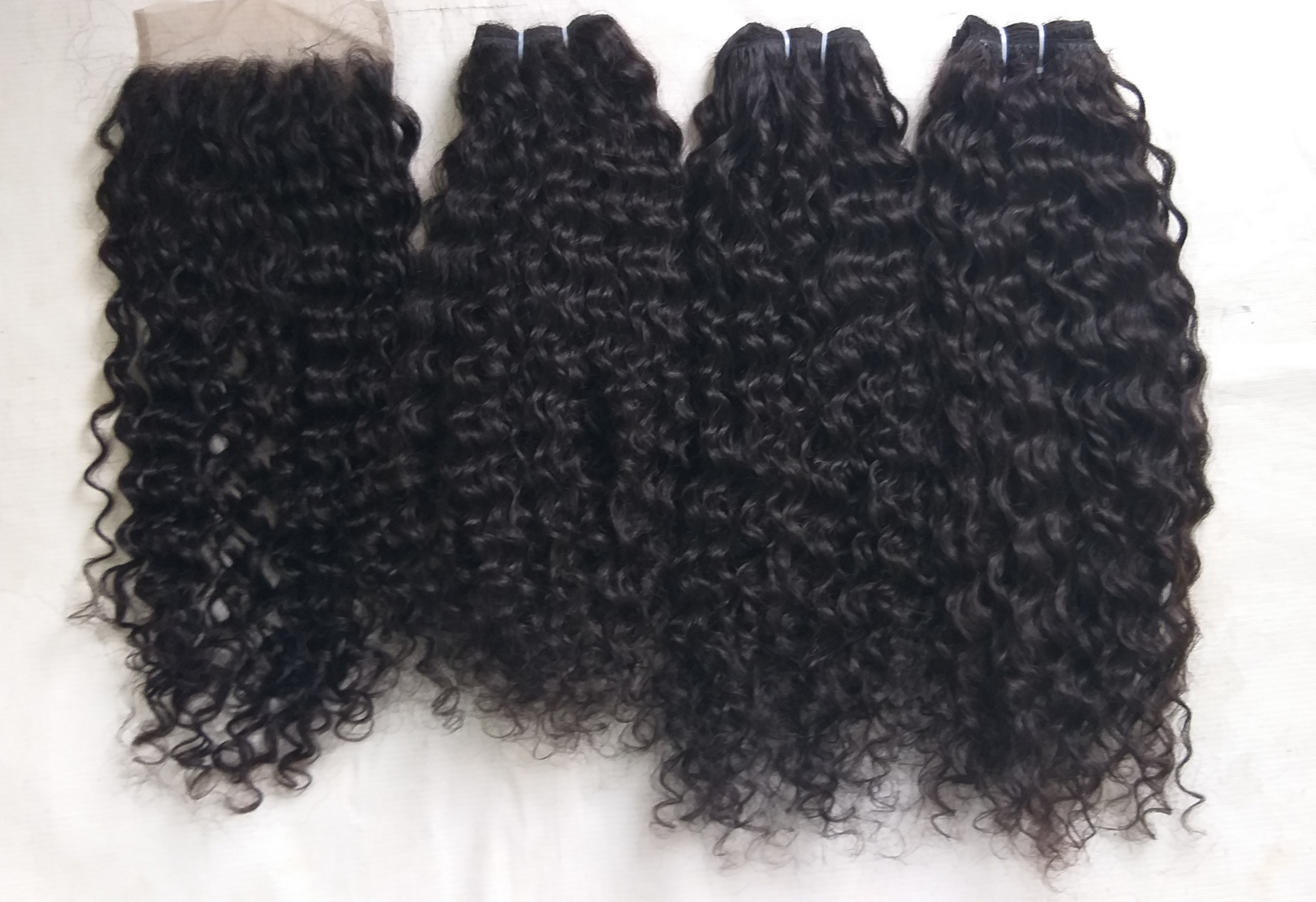Peruvian steam curly hair, cuticle aligned single donor hair