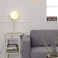 Post Modern Gold Table Lamp Glass,with E27 Bulb (Warm White)