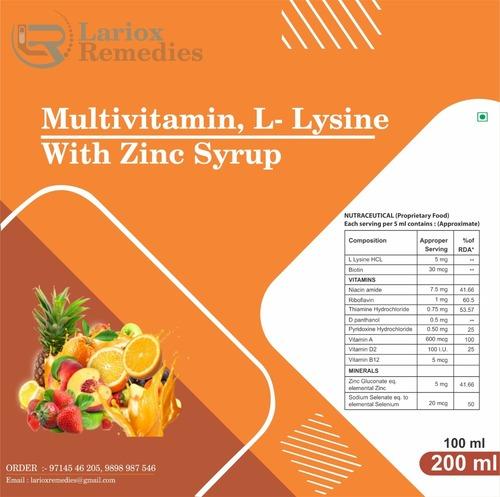 Multivitamin L-lysine Zinc Syrup