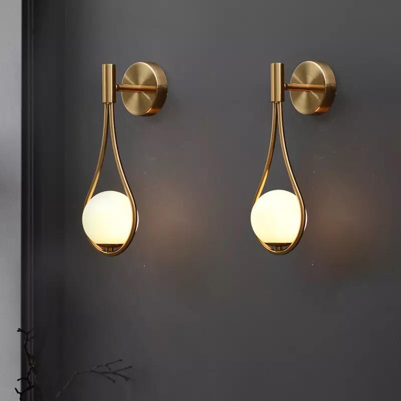 Post Modern Glass Wall Lamp, with Bulb E27, 3 Colour (WW+CW+NW)