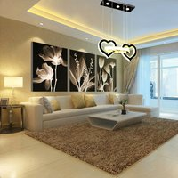120W Heart Shape K9 Crystal Led Chandelier,Remote Control, 3 Colour (WW+CW+NW)