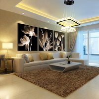 100W Square Led K9 Crystal Chandelier, Remote Conteol, 3 Colours (WW+CW+NW)