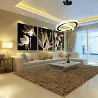 70w Two Round Rings K9 Crystal Led Chandelier,remote Control, 3 Colour