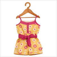 Kids Floral Print Casual Frock
