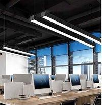 24W Office Led Pendant Hanging Lamp (White) (120 * 7 * 5 cm)