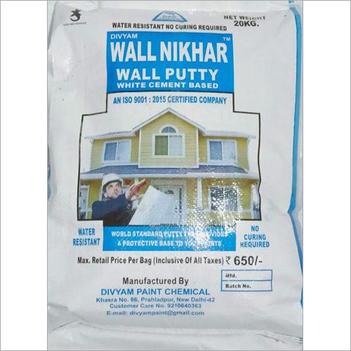 Wall Nikhar (Wall Putty) 20kg