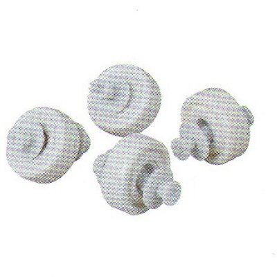 Set of 4 PVC Wheels with locks and pins