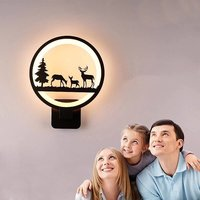 15W Wall Led Lamp Round 3 Deer (Warm White)