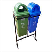Plastic Double Dustbin With Stand