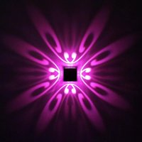 4W Pattern Decorative Wall Led Lamp, Multicolour RGB with Remote