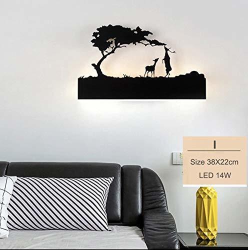 15W Wall Led Lamp Rectangle, 2 Deer (Warm White + White)