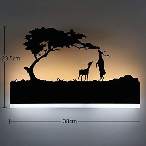 15W Wall Led Lamp Rectangle, 2 Deer (Warm White + White)