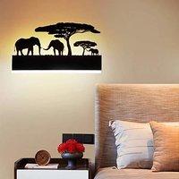 15W Wall Led Lamp Rectangle Three Elephant (Warm White + White)