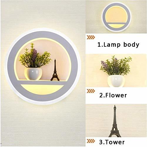 23w Wall Led Lamp Round,tower & Flower, (Warm White + White)