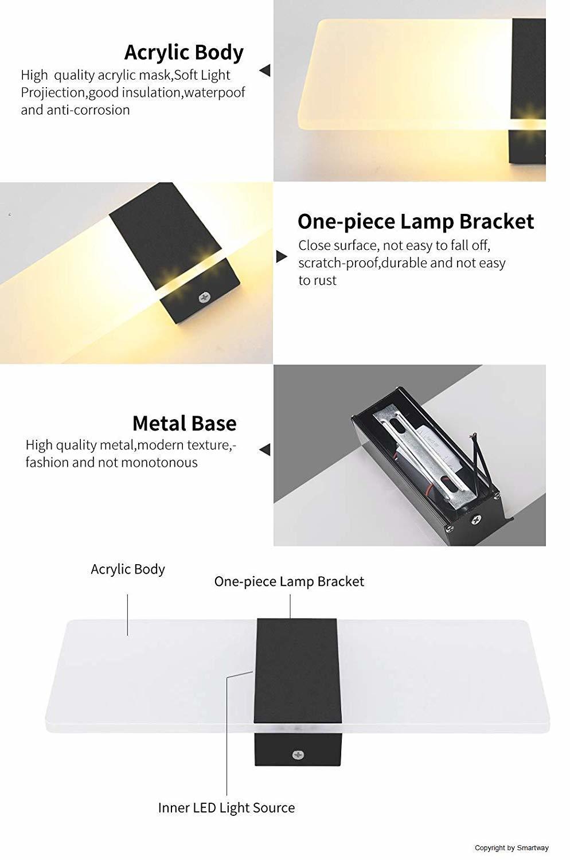 6W Rectangle Wall Led Lamp (Warm White)