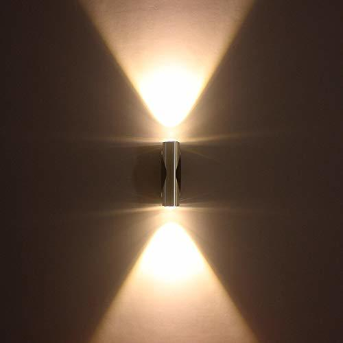 6W Wall Led Lamp (Convex Lens), Up & Down (Warm White)