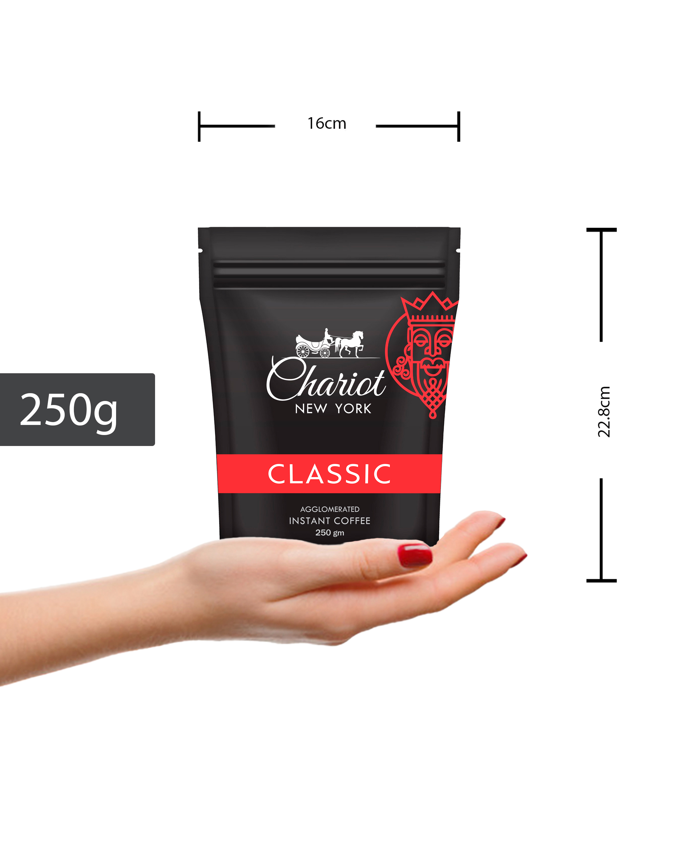 Chariot New York Classic Instant Coffee 250 gm Pouch
